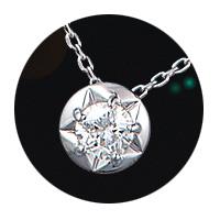 K18WG ダイヤモンド プチネックレス D0.20ct VSクラス